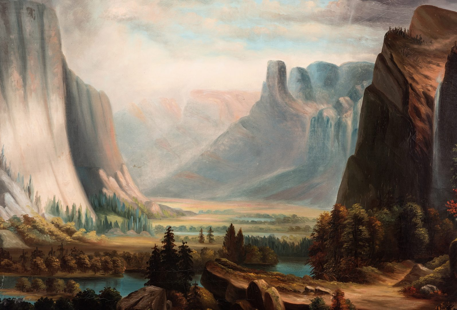 Lot 553: Attr. William Harring, O/C, Yosemite Valley