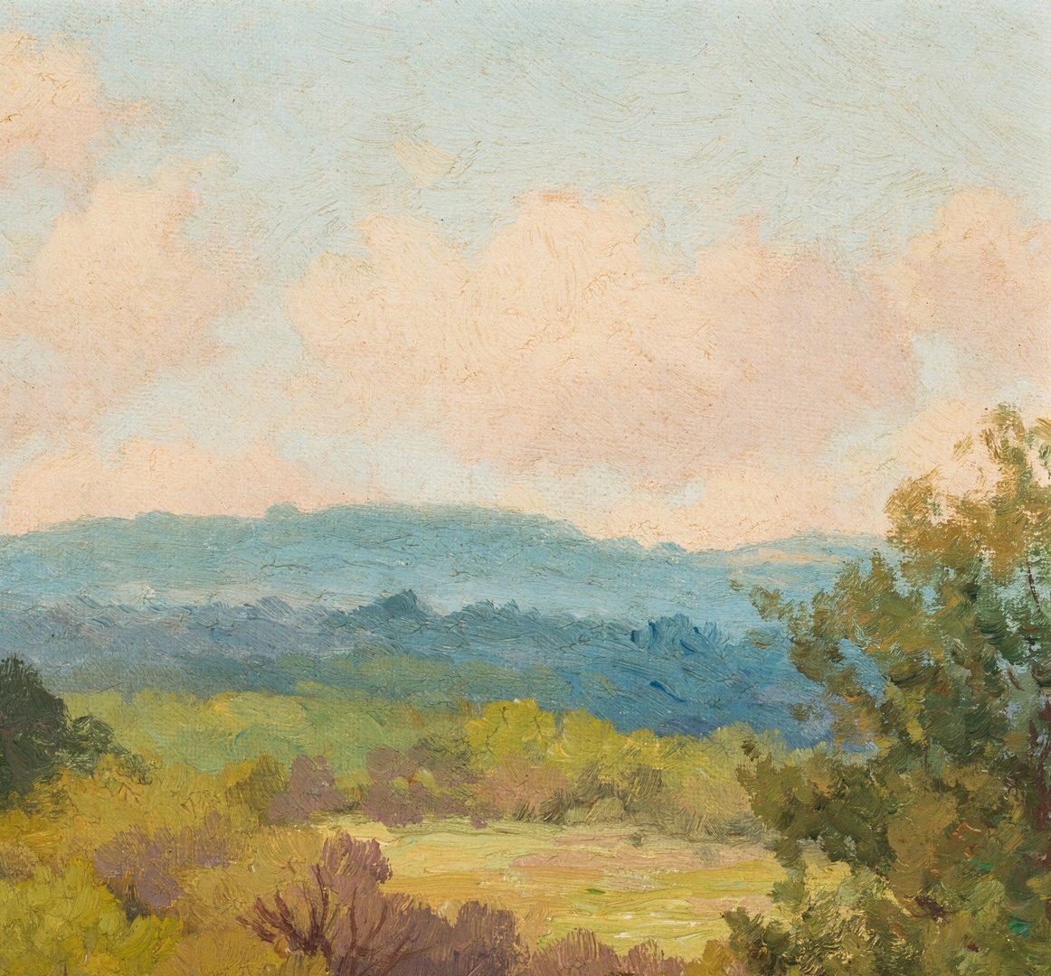 Lot 559: Porfirio Salinas, O/B, Landscape with Cactus Flowers