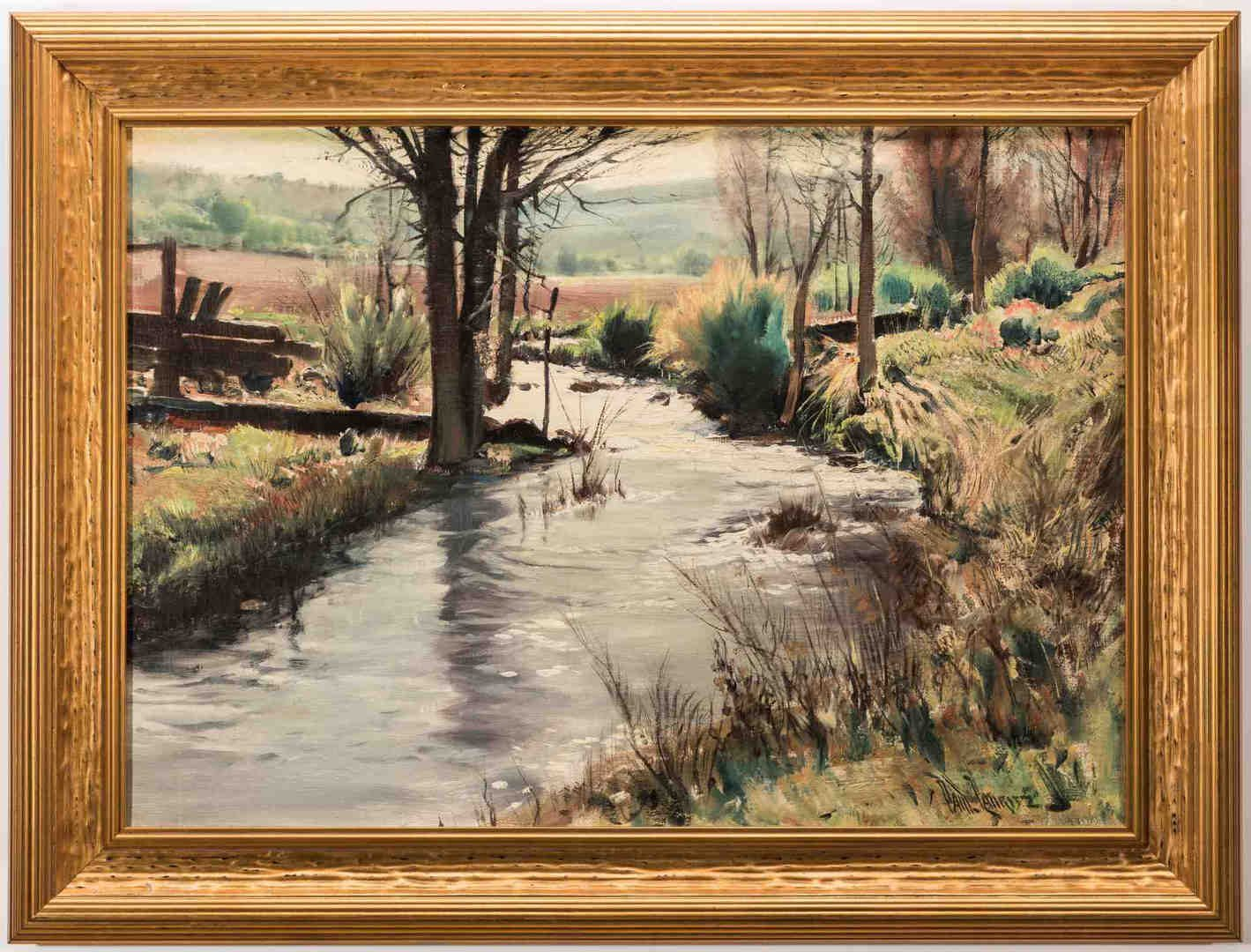 Lot 560: Paul Lauritz, O/C, Landscape with Creek