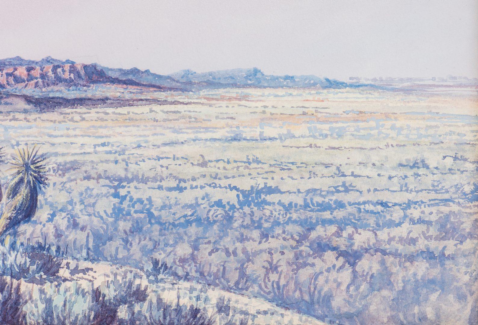 Lot 564: Jack Van Ryder Watercolor Desert Landscape