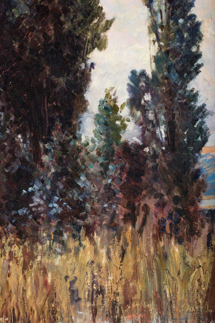 Lot 565: Geza Kende Oil on Canvas Landscape