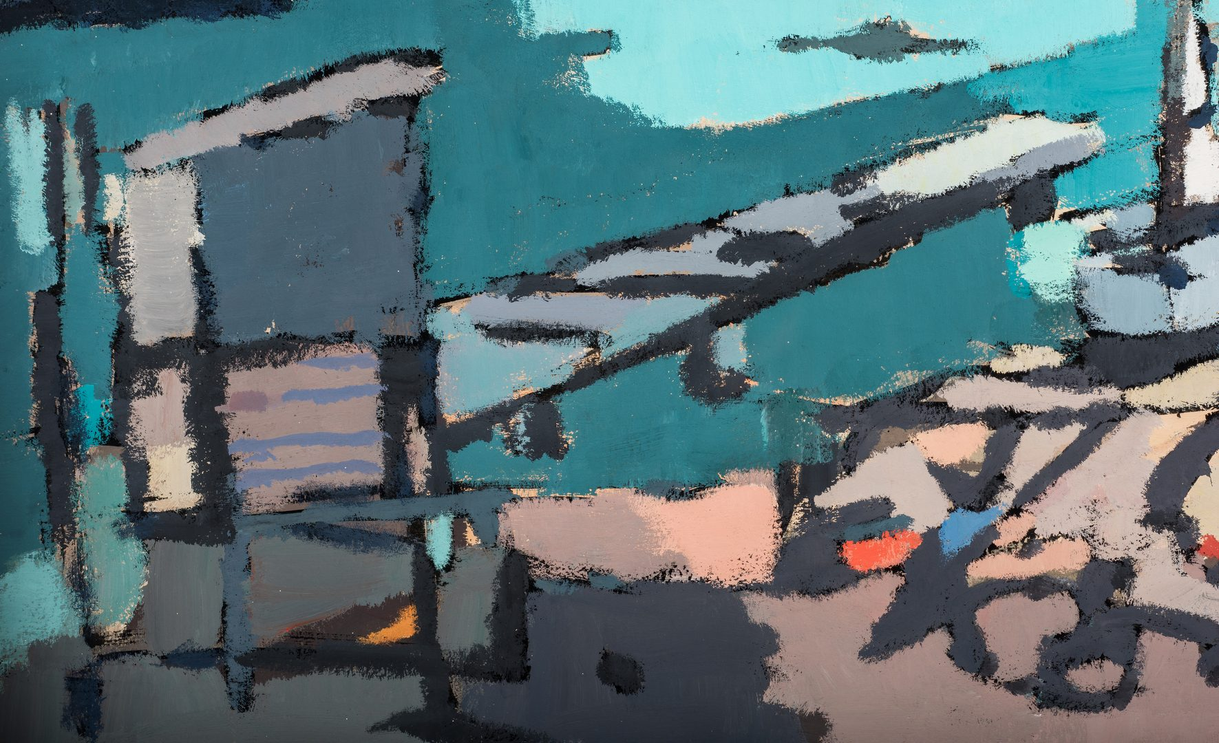 Lot 570: George Cress O/B Abstract Landscape