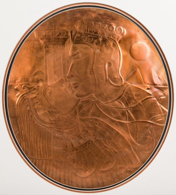Lot 577: Greg Ridley Large Copper Plaque