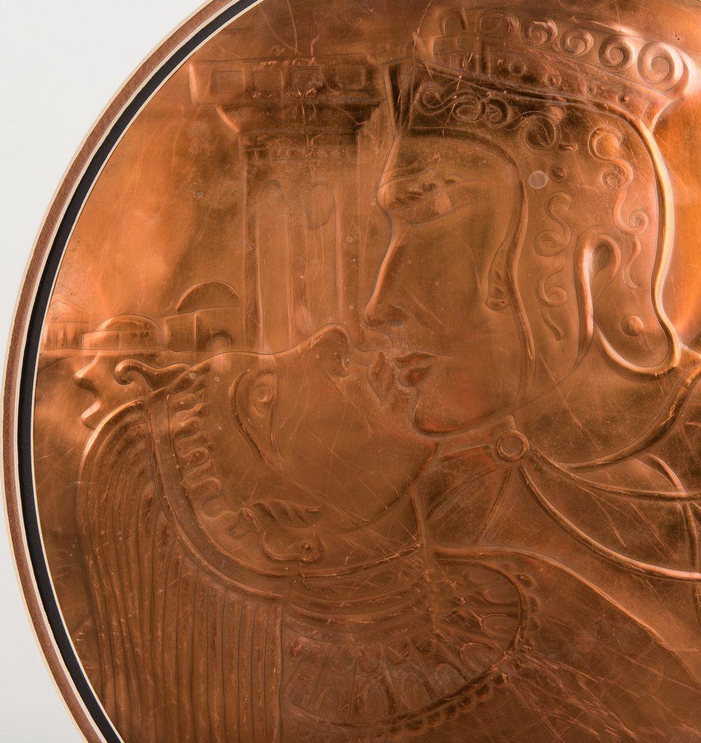 Lot 577: Greg Ridley Large Copper Plaque