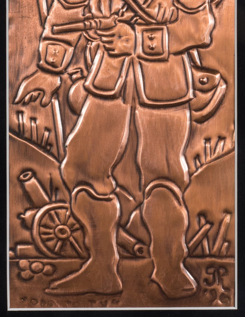 Lot 578: 2 Greg Ridley Copper Plaques