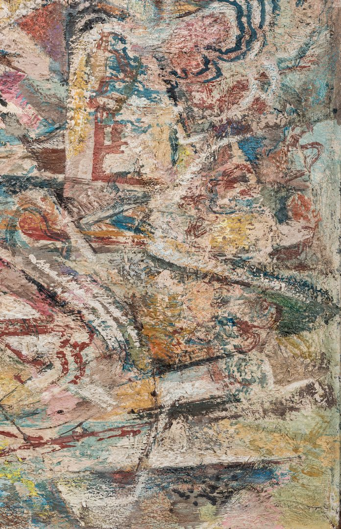 Lot 579: Abstract Oil On Canvas, Kermit Ewing Frame