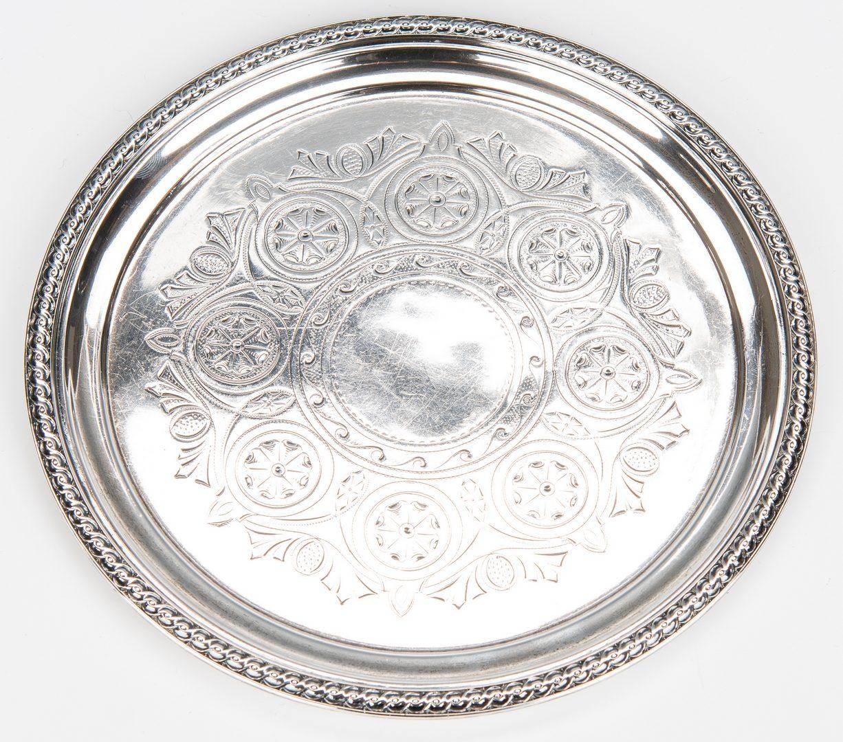 Lot 57: Salem, MA coin silver jug plus Gorham Tray