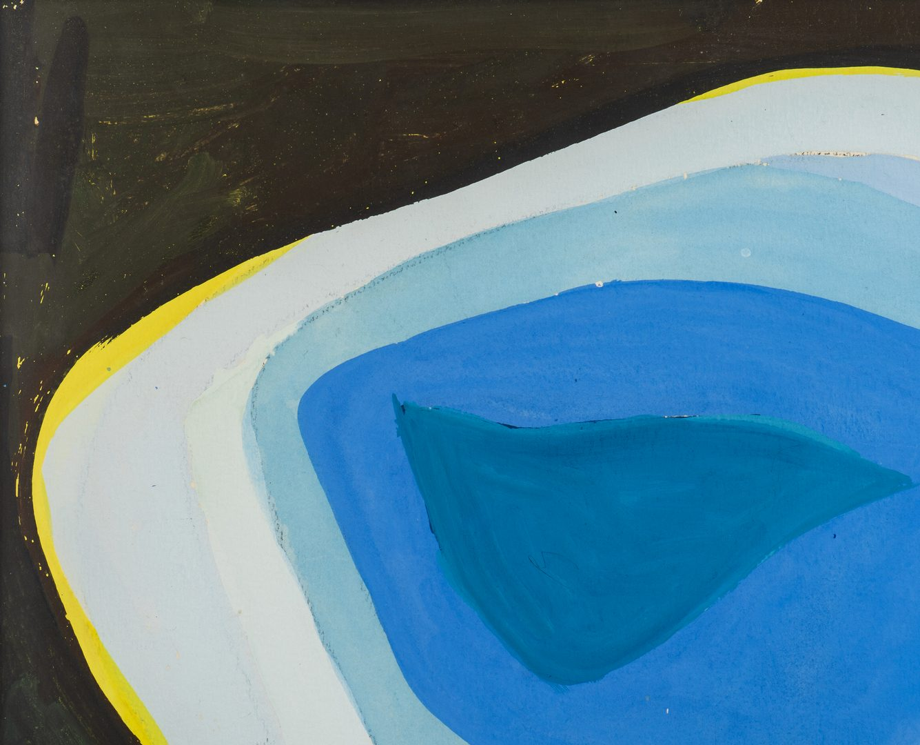 Lot 580: Philip Perkins Abstract Oil on Board