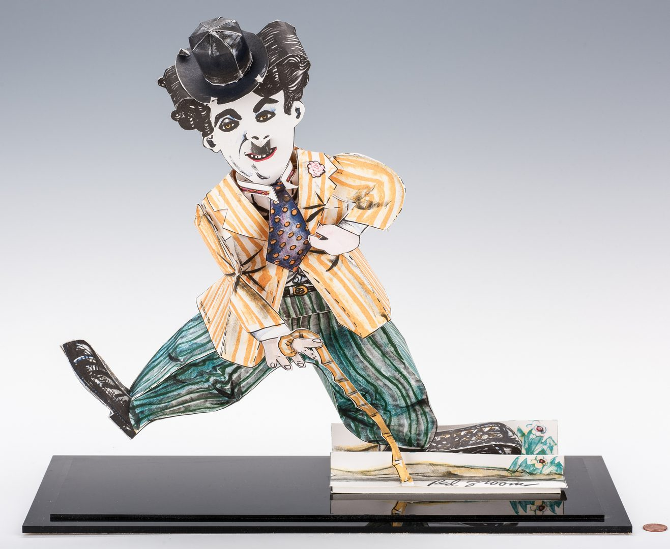 Lot 581: Red Grooms 3D Sculpture of Charlie Chaplin & Exhibit Catalog