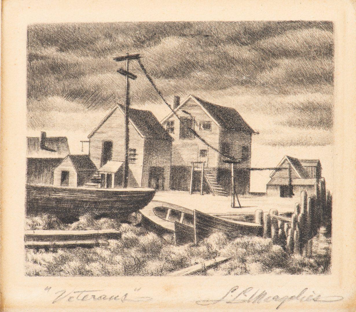 Lot 586: 2 Samuel Margolies Etchings, Babylon & Veterans