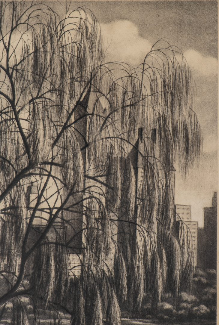 Lot 587: Samuel Margolies Etching, Relections