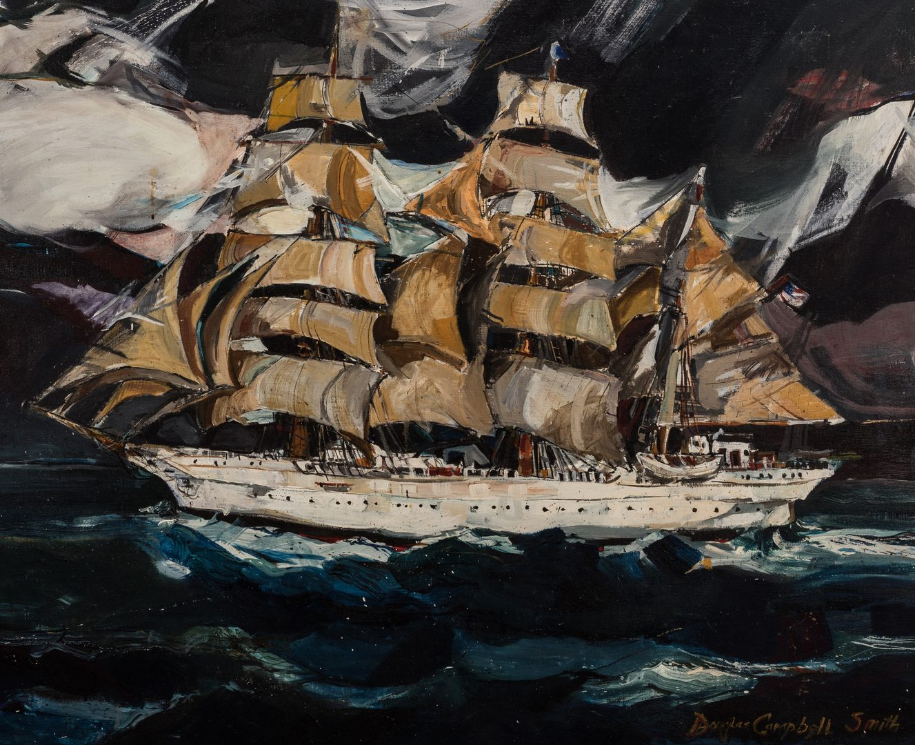 Lot 588: Douglas Smith, O/C, Ship Painting