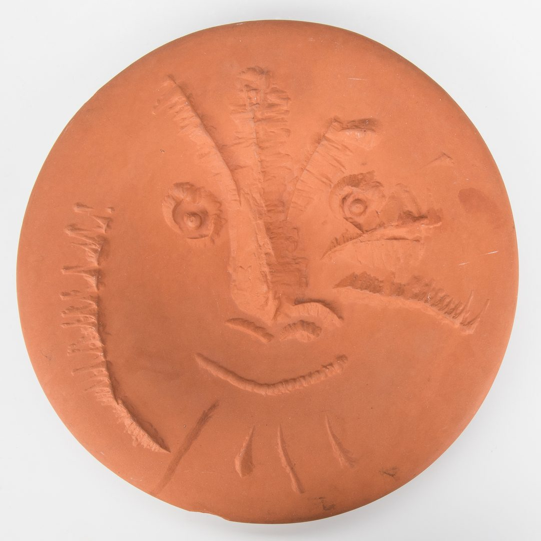 Lot 593: Picasso Madours Terracotta plate