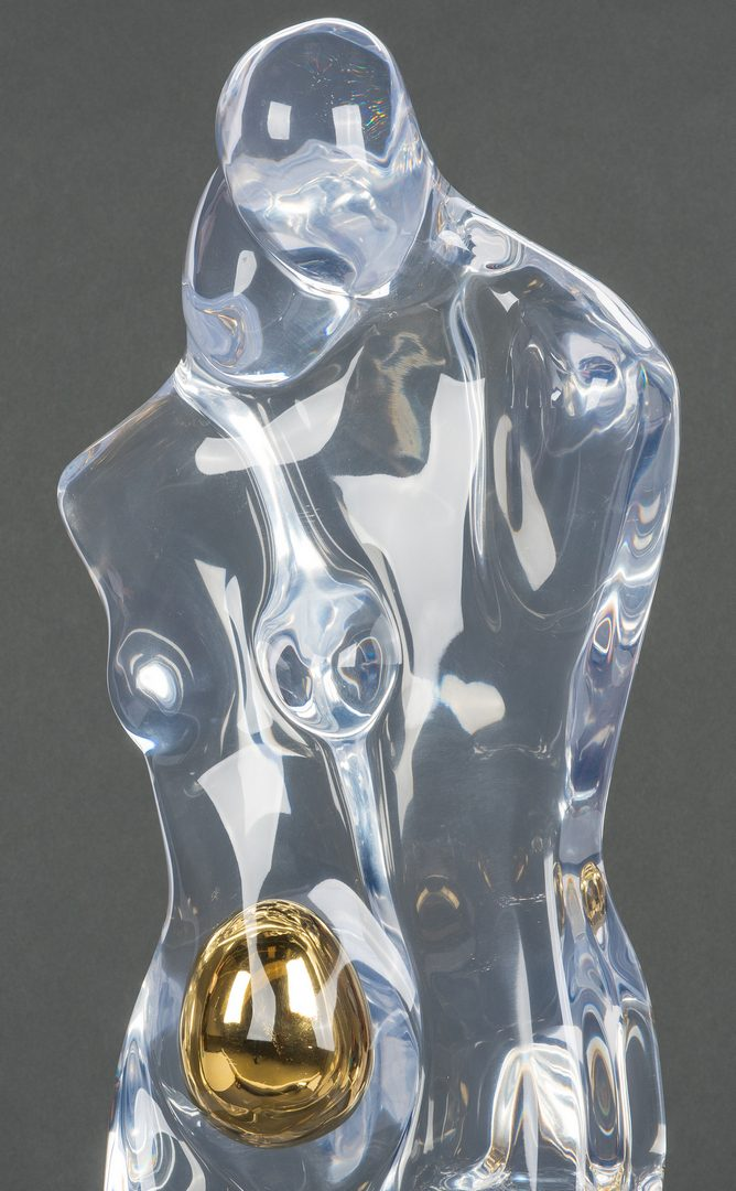 "Lot 596: Sophie Gal Lucite Sculpture ""Pregnant Couple"""