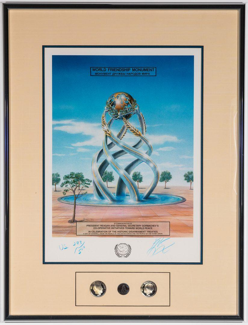 Lot 598: B. Livingstone-Strong Bronze Sculpture, Lithograph & Medallions