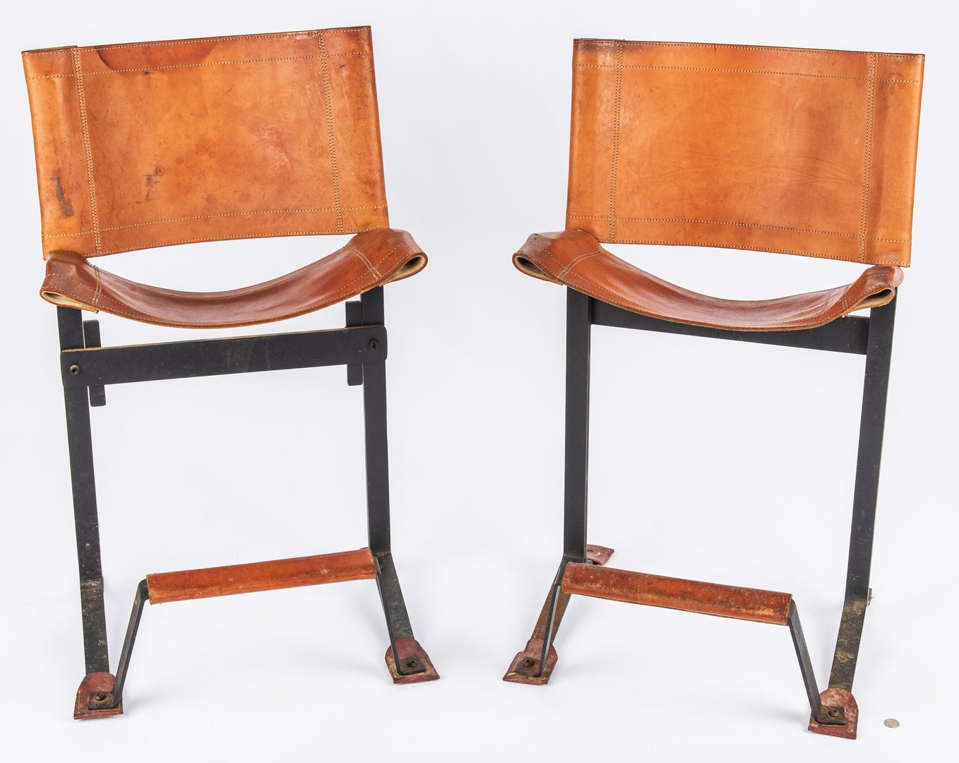 Lot 603: Pair Max Gottschalk Mid Century Bar stools