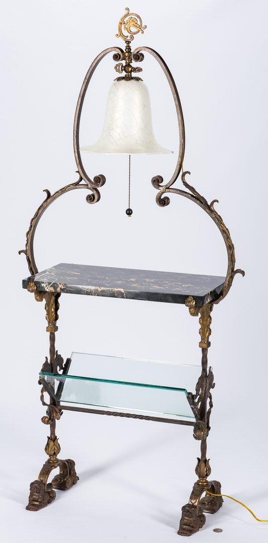 Lot 604: Reading Table, Oscar Bach label
