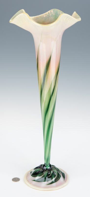 Lot 607: James Lundberg trumpet vase