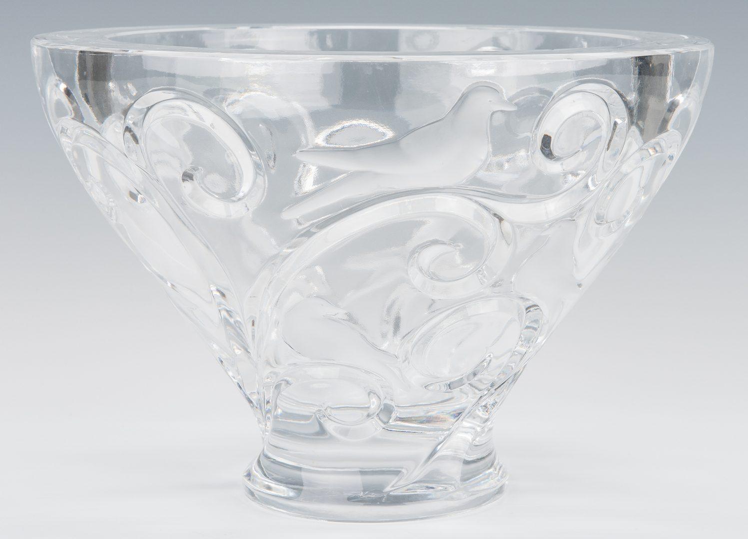 Lot 610: Lalique Verone Bowl & 4 Lalique Femmes Whiskey Tumblers
