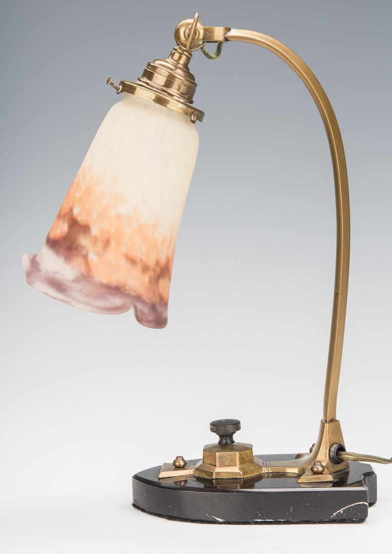 Lot 612: Art Deco Muller Freres Desk Lamp