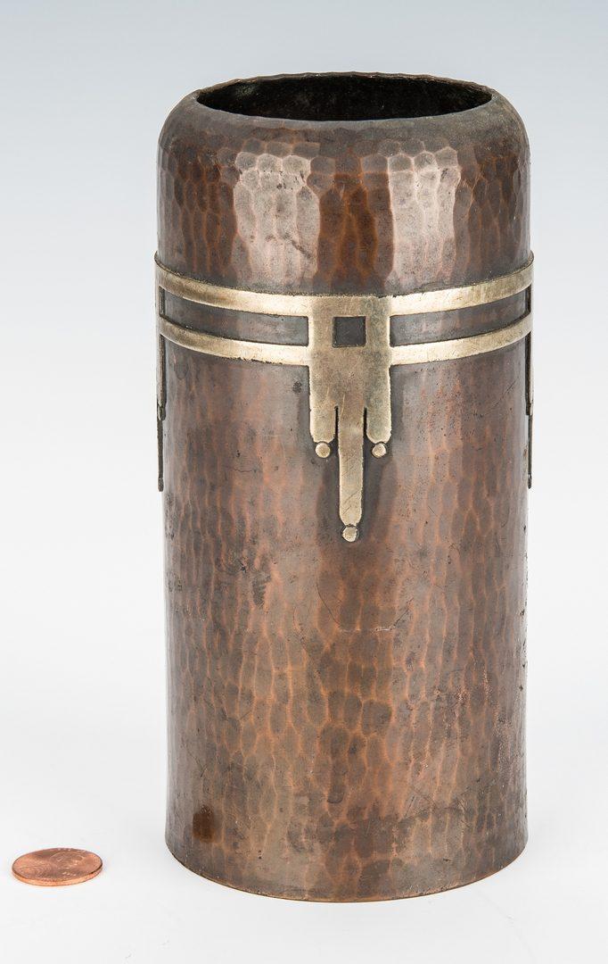 Lot 613: Roycroft Arts & Crafts Bronze vase