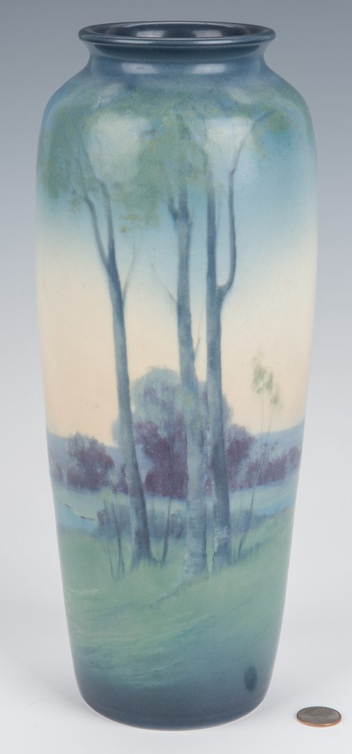 Lot 616: Scenic Vellum Rookwood Pottery Vase