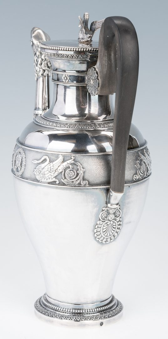 Lot 61: French Empire Sterling Silver Coffee Pot
