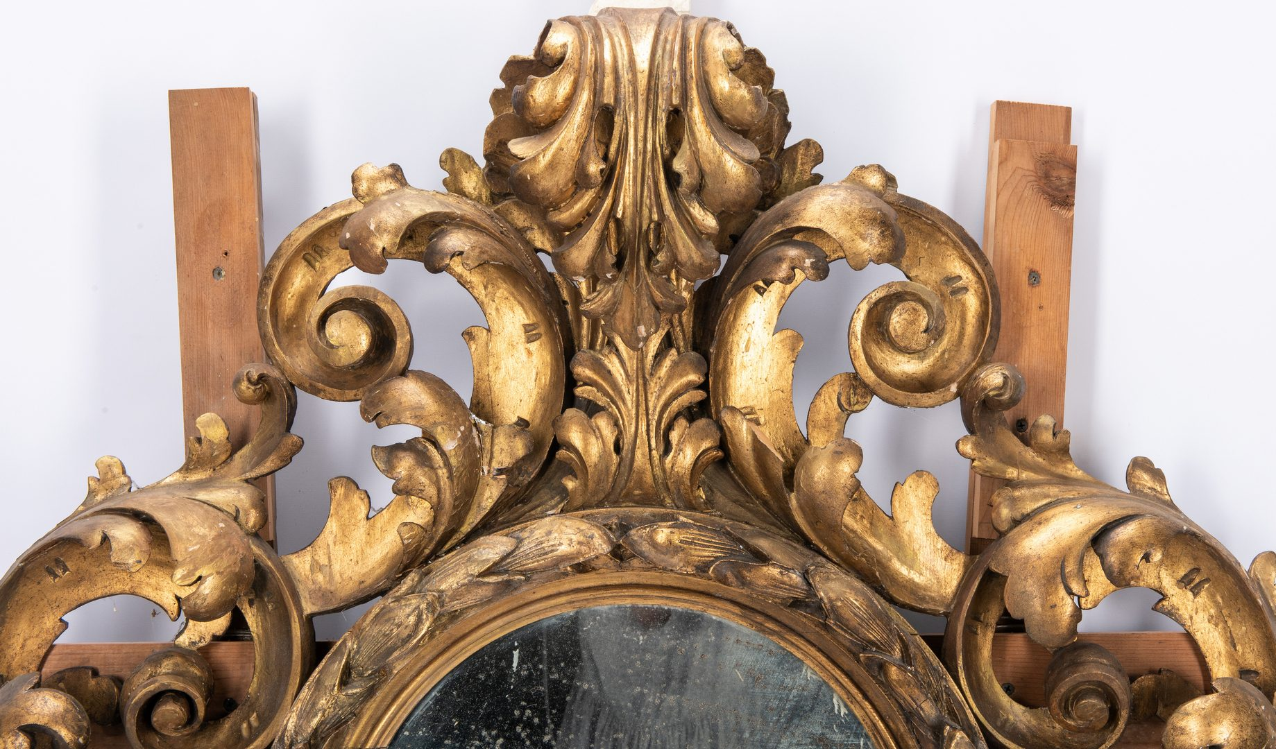 Lot 620: Continental Baroque Gilt Mirror