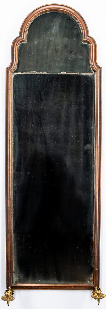 Lot 621: Walnut Pier Mirror with beveled glass