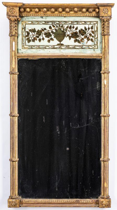 Lot 622: George III Giltwood & Eglomise Pier Mirror