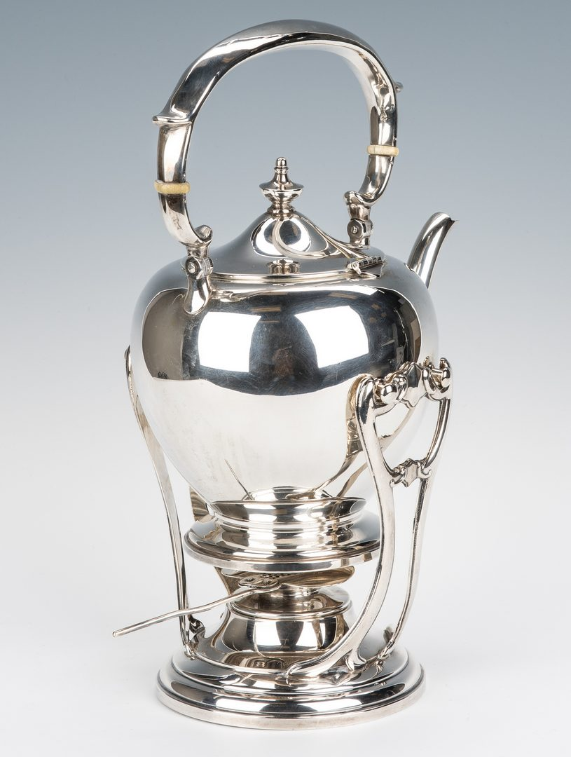 Lot 624: Fisher Sterling Tea Kettle on Stand