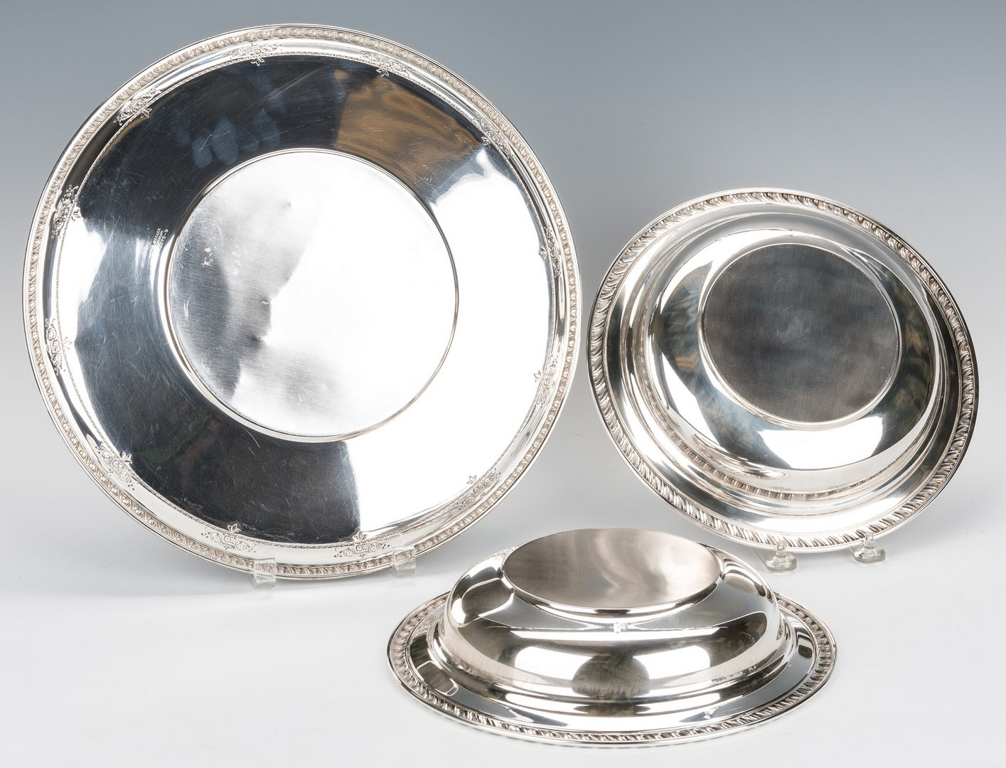 Lot 631: 7 Sterling Silver Table Items