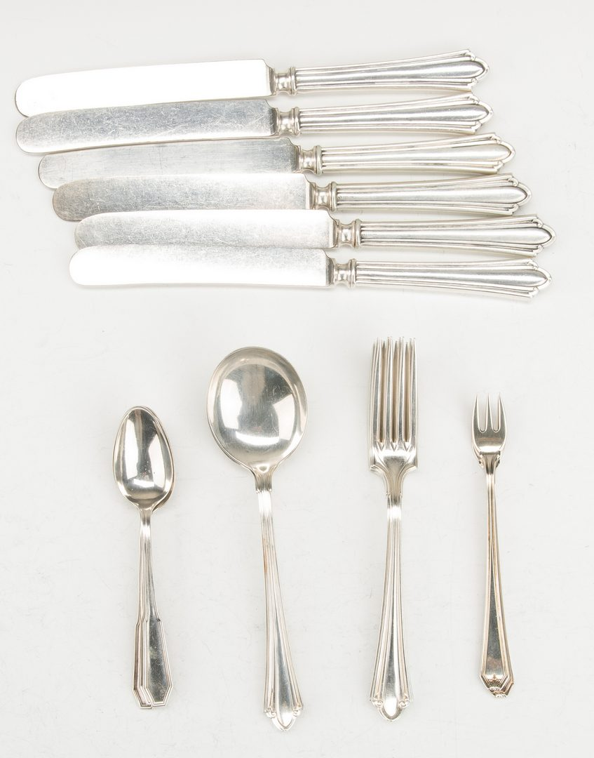 Lot 636: Associated Group Sterling Flatware, 48 pcs
