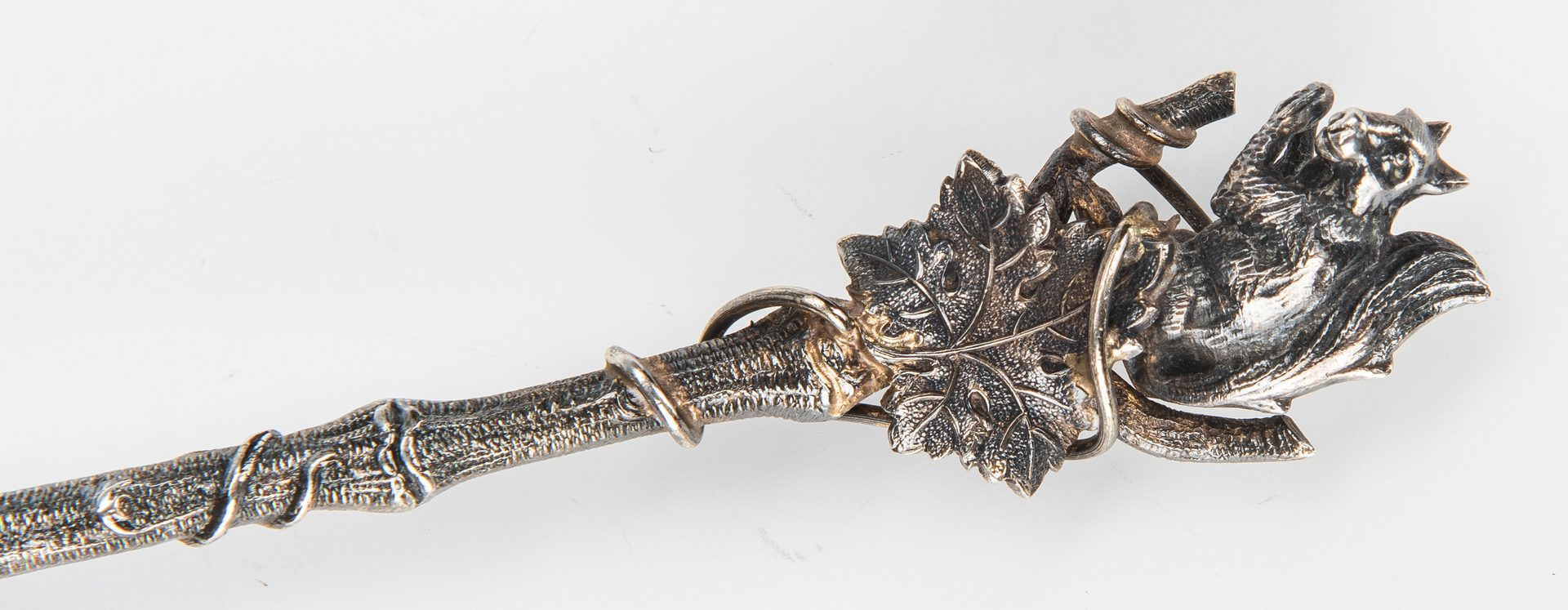 Lot 638: Gorham Sterling Figural Nut Spoon & Shreve & Co. Sterling Silver Waste Bowl