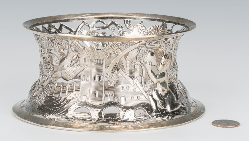Lot 63: Irish Sterling Silver Dish Ring