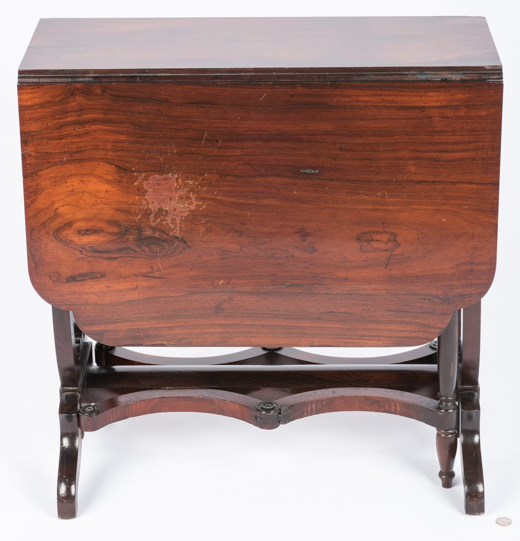 Lot 640: English Regency Rosewood Sunderland Table