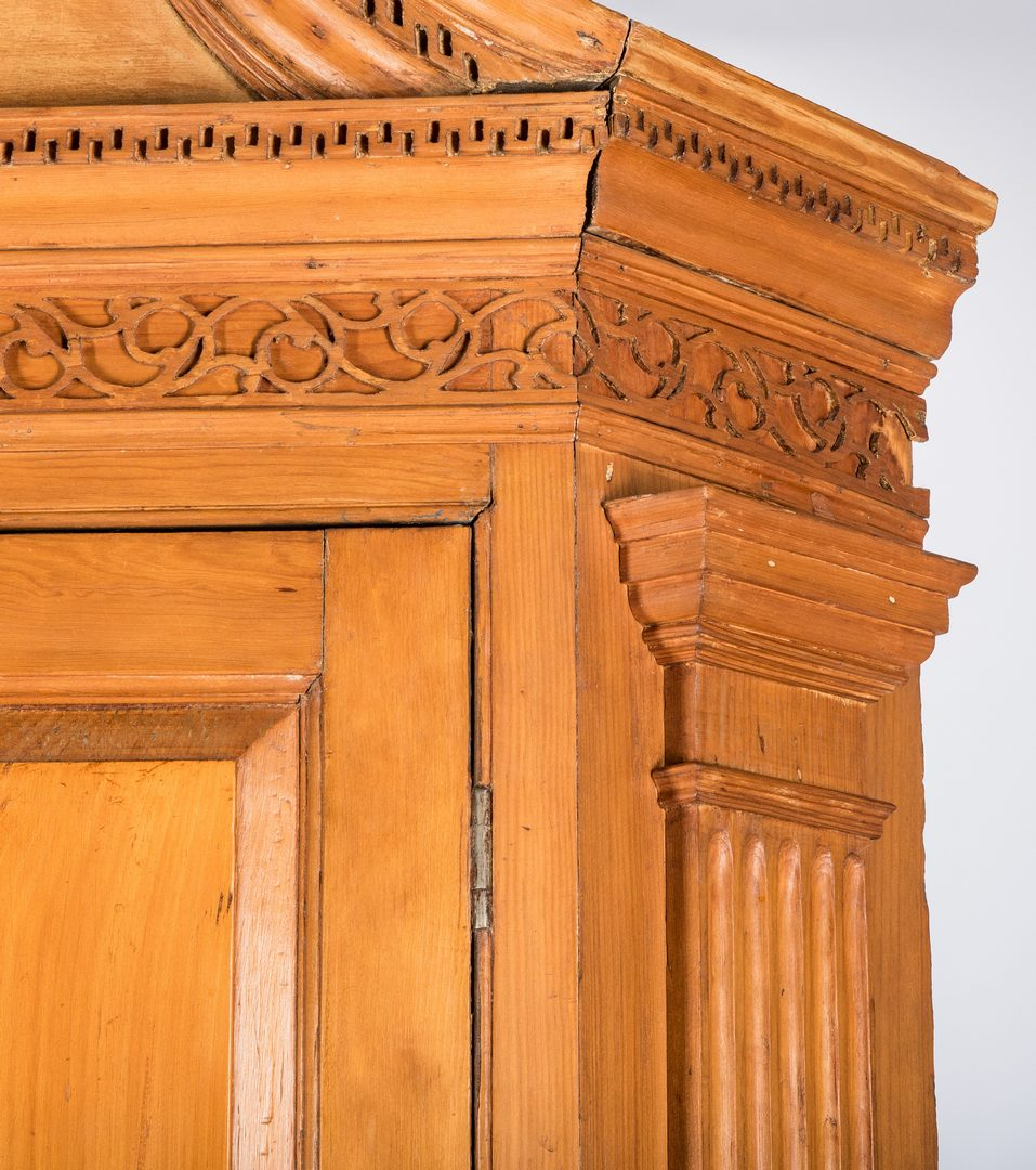 Lot 643: Architectural Pine Corner Cupboard