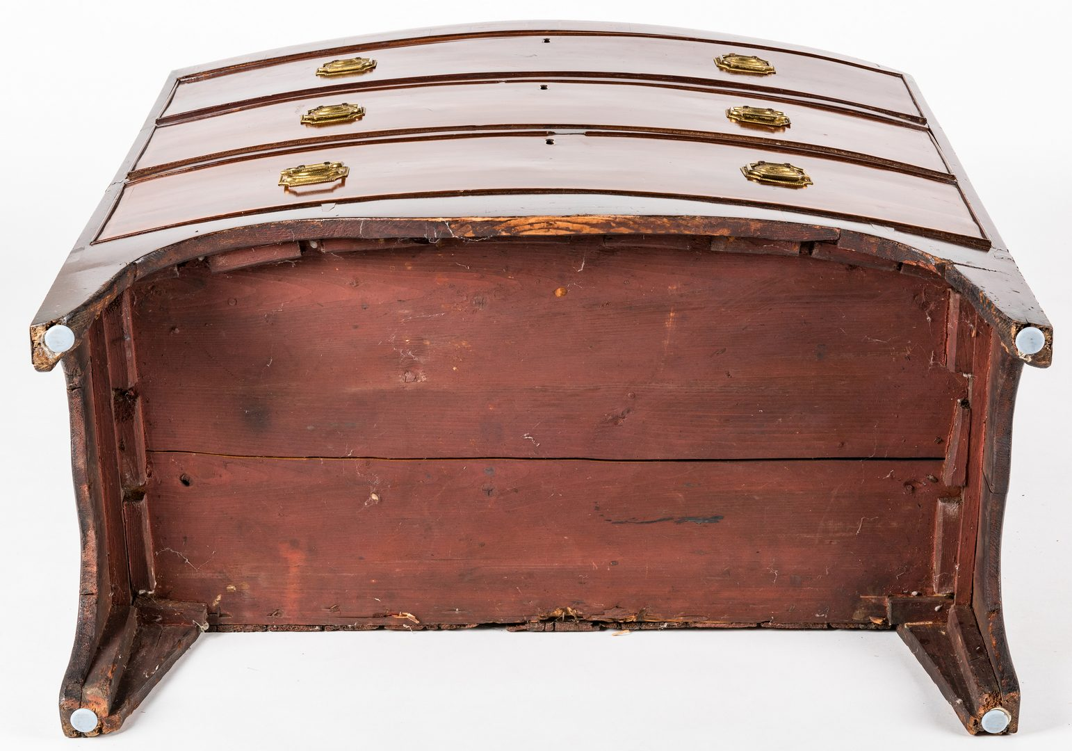 Lot 644: Inlaid English Bowfront Chest