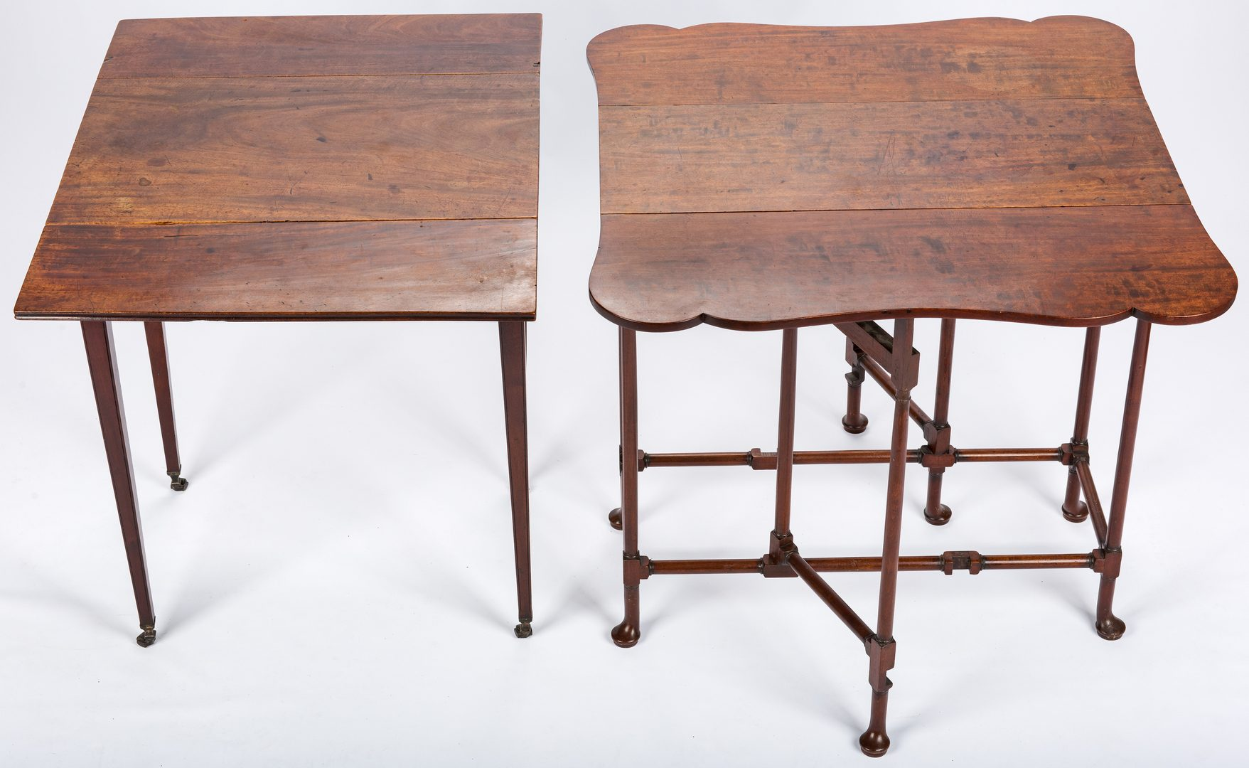Lot 645:  2 English Tables inc. Spider Table