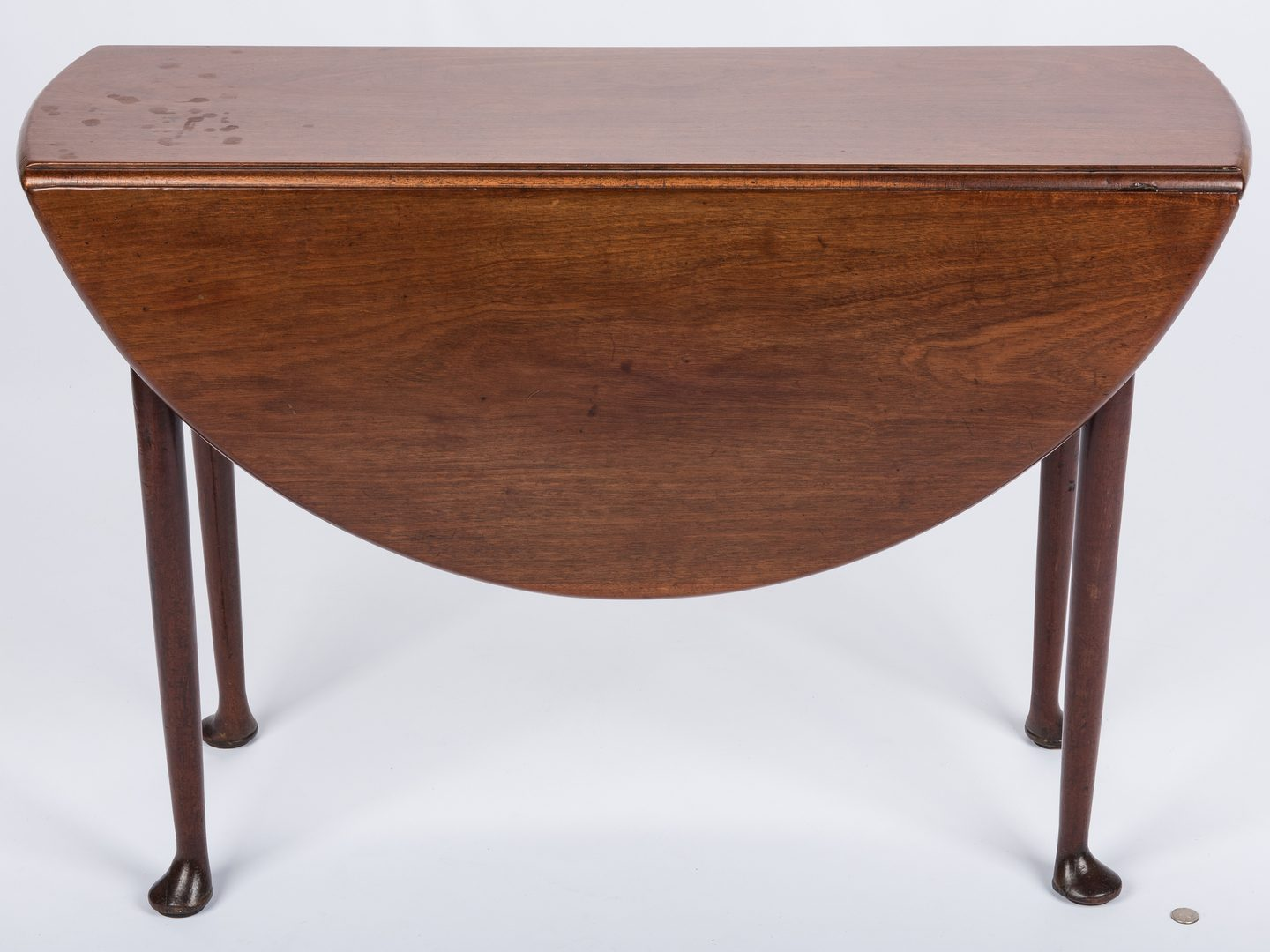 Lot 647: Diminutive Queen Anne Dropleaf Table