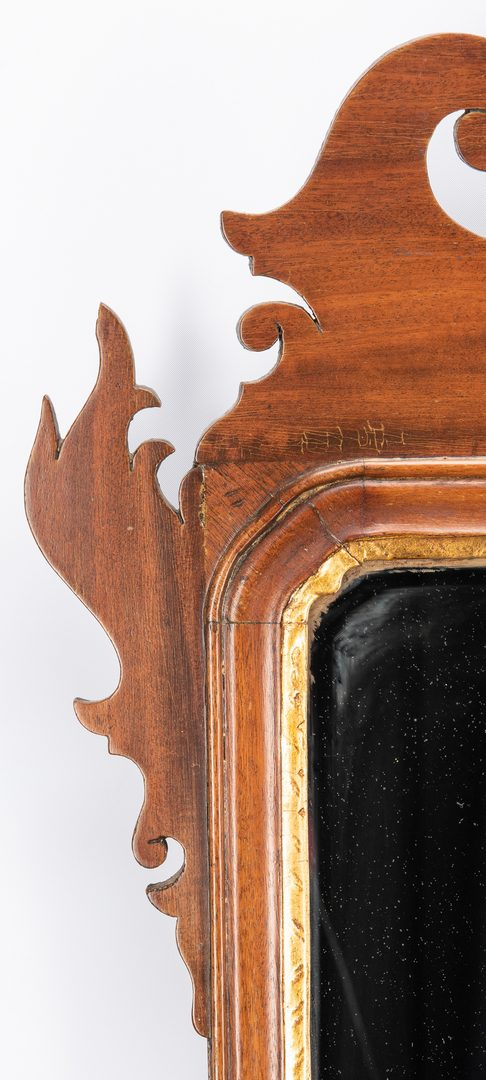 Lot 648: Chippendale Looking Glass with Phoenix