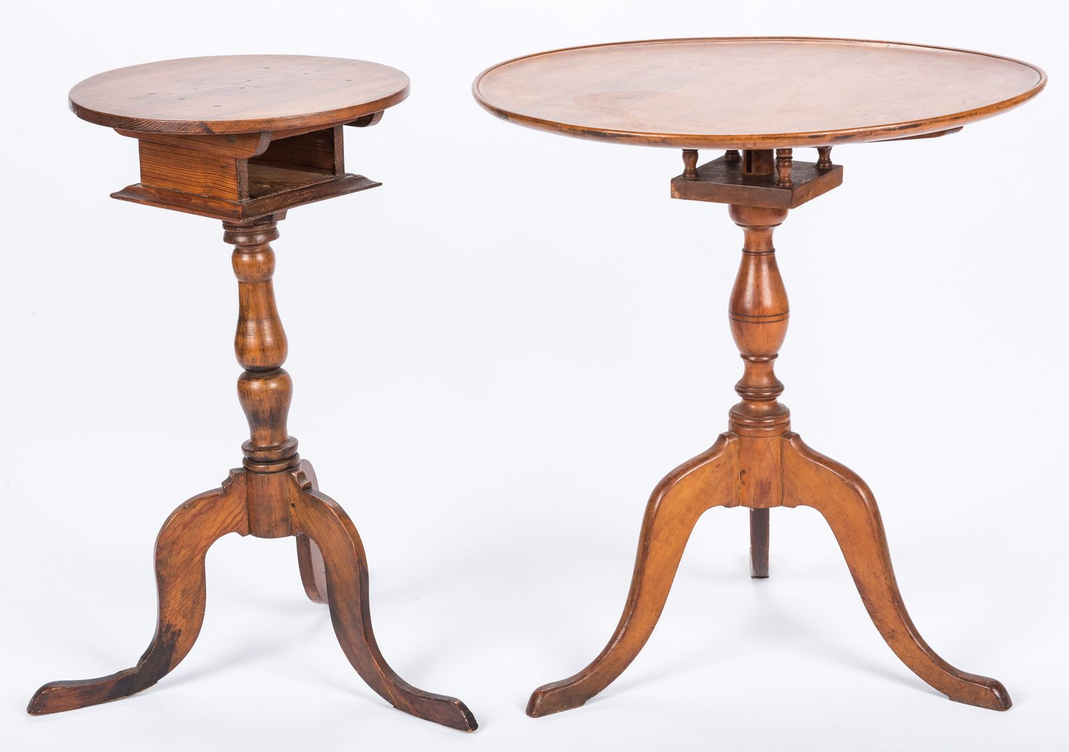 Lot 649: 2 Tilt-Top Tables, 1 Southern