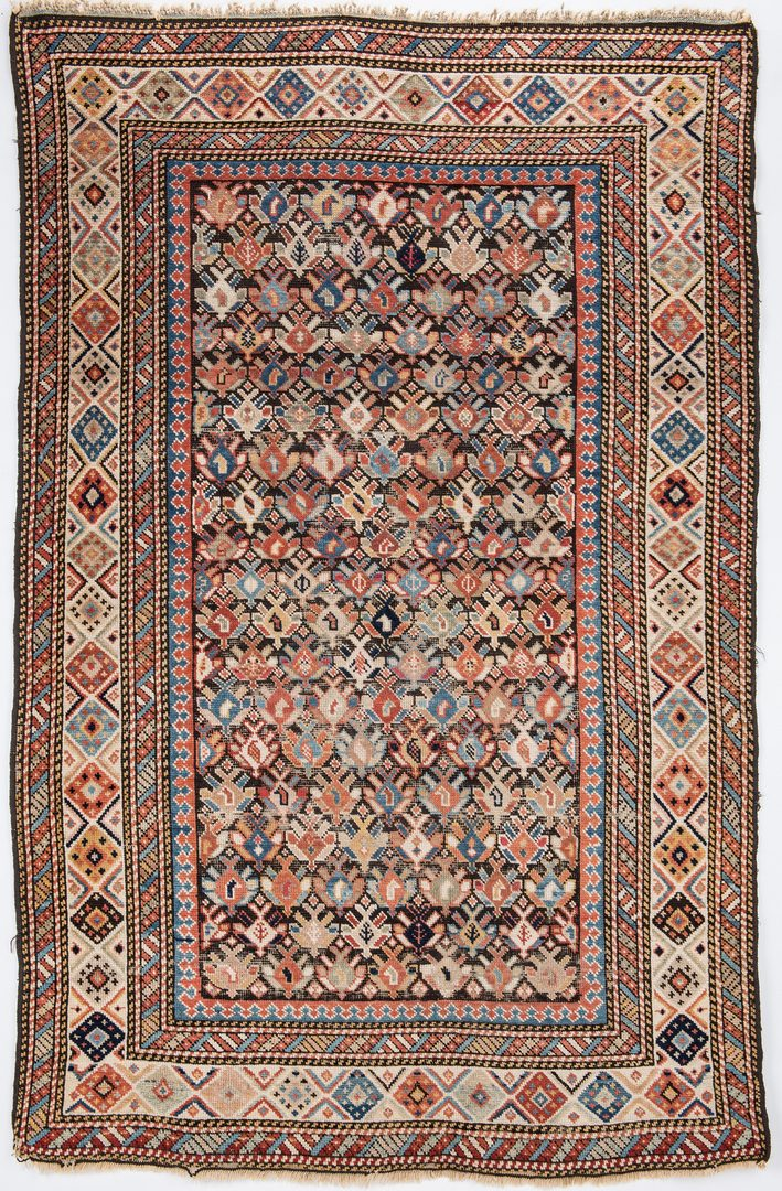 Lot 653: Antique Caucasian Kuba Area Rug
