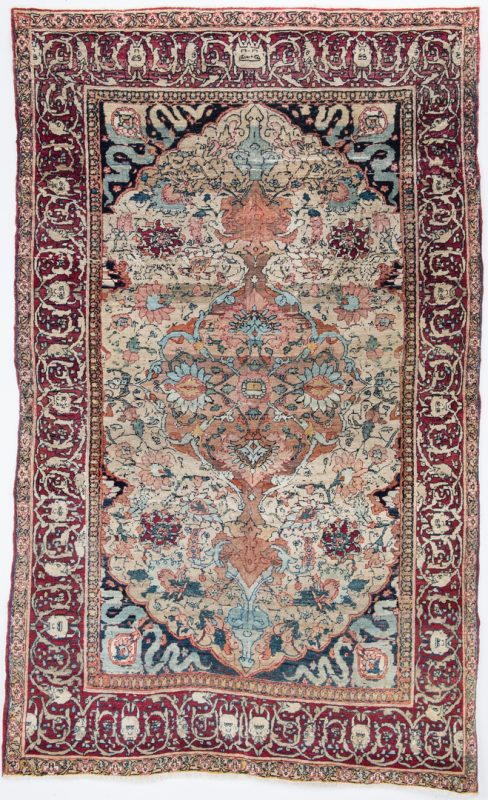 Lot 654: Antique Persian Kermanshah Devils Head Rug
