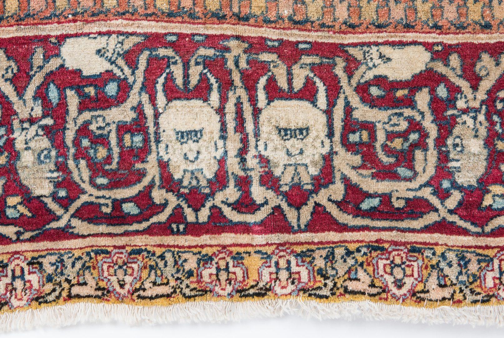 Lot 654: Antique Persian Kermanshah Devils Head Rug