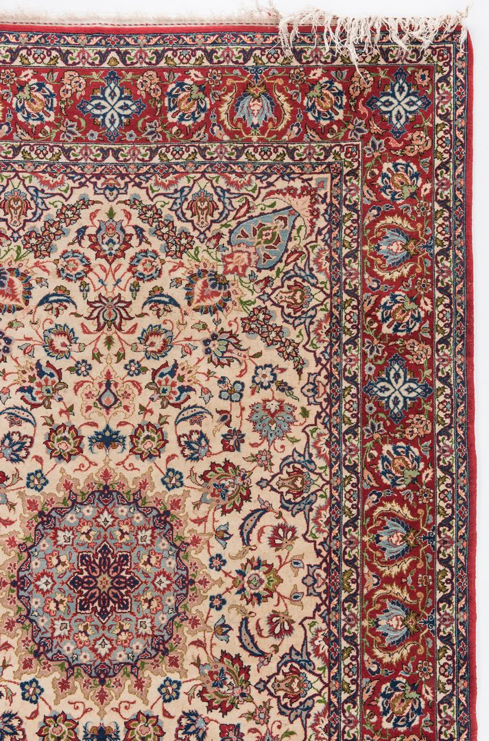 Lot 655: Persian Isfahan or Nain area rug