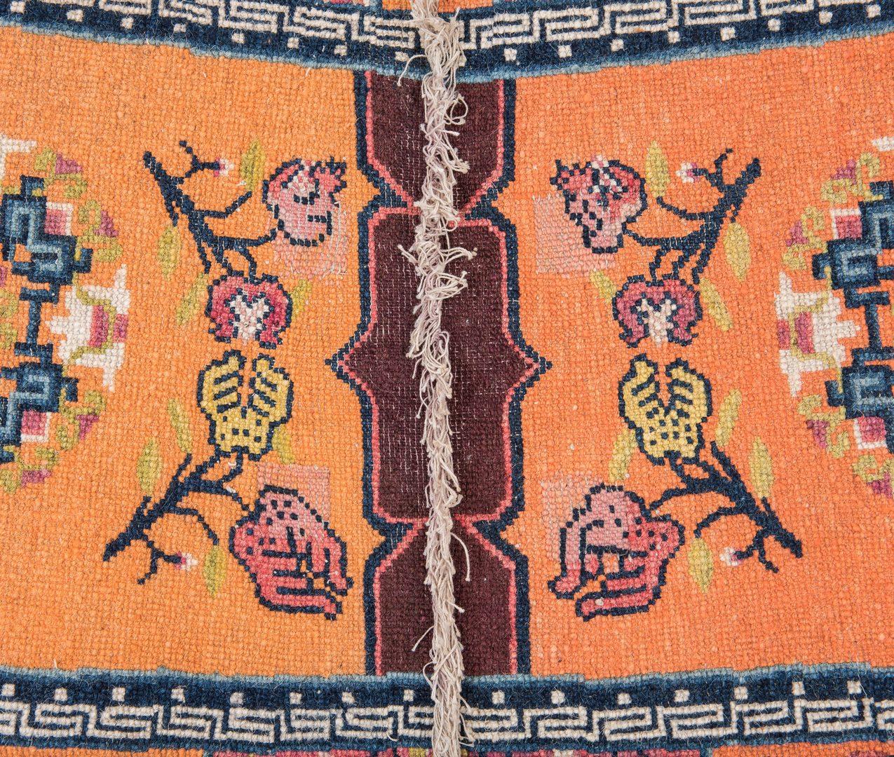 Lot 657: Mongolian Saddle Rug, 1st quarter 20th c.