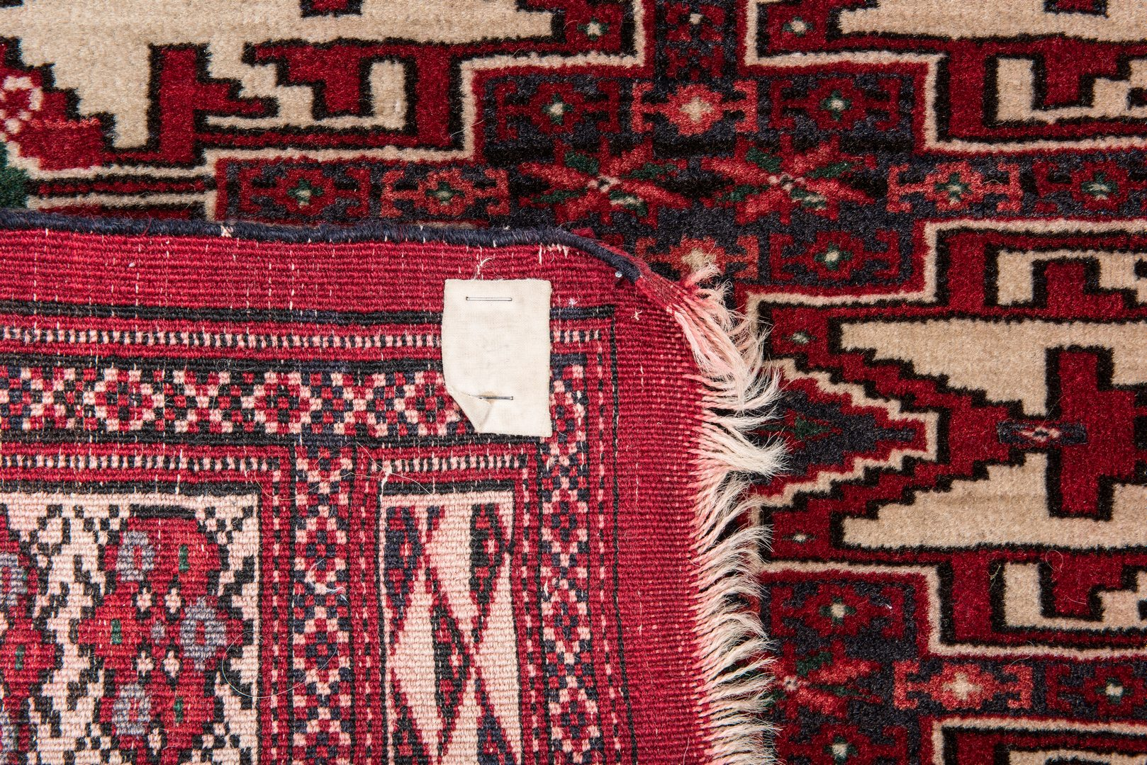 Lot 658: Two Turkoman area rugs