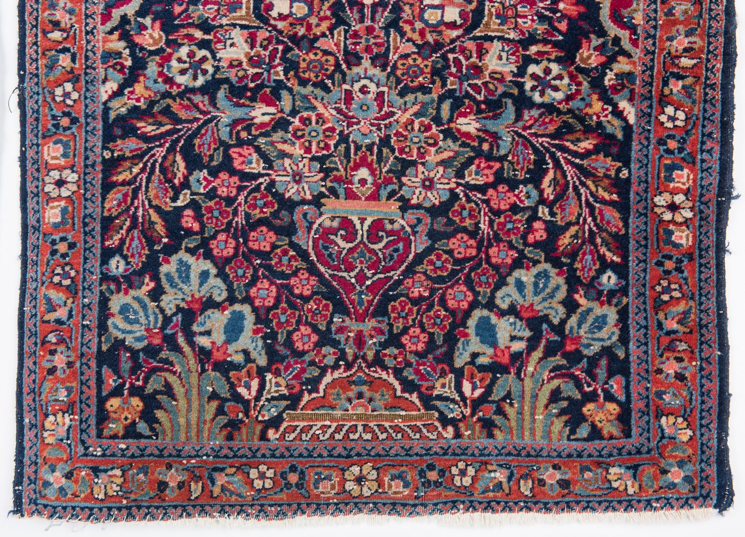 Lot 659: 2 Persian Sarouk Mats, 1st half 20th c.