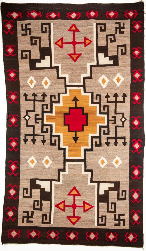 "Lot 662: Navajo Rug, Crystal Storm, 9'5"" x 5'5"""